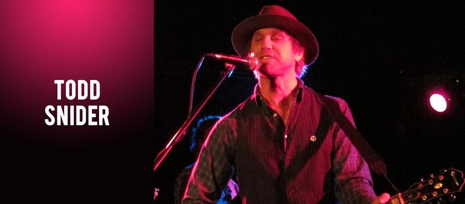 Todd Snider at Jefferson Theater